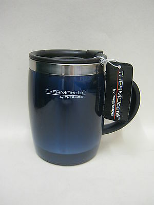 New Thermos Thermocafe Desk Travel Mug Beaker Cup  0.45L Blue