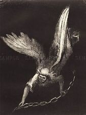 ODILON REDON FRENCH ANGEL REVELATION ST JOHN OLD ART PAINTING POSTER BB6204A