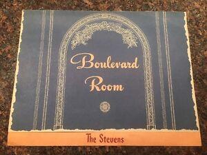 Boulevard-Room-Dinner-Menu-The-Stevens-1945-Chicago-Illinois-VINTAGE