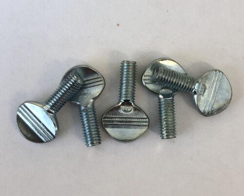 6 OFF M5 X 12MM THUMB SCREW ZINC PLATED HAND TWIST FLAT HEAD 5MM 12MM