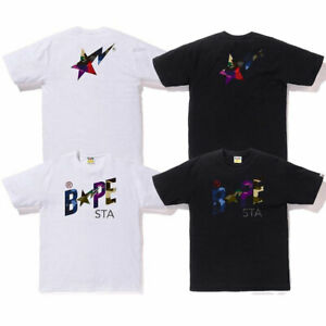 A-BATHING-APE-Men-039-s-MIX-CAMO-BAPESTA-TEE-2colors-From-Japan-New