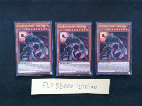 lot of 3 golem cogs ancients-ultimate hits Yu-gi-oh dupo-fr054-vf//ultra