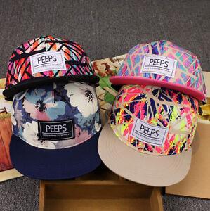 New Luxury Men's Snapback Adjustable Cool Floral Print Baseball Cap Hip Hop hat