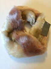 ANTHROPOLOGIE Faux Fur Infinity Cowl NWT Luxury Soft Elegant Warm Neutral LOVE