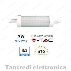 Lampadina-led-V-TAC-7W-40W-R7S-bianco-naturale-4000K-VT-1917-SMD-tubolare-faro