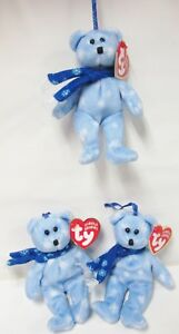 b0c768e300c Image is loading Ty-1999-Holiday-Teddy-Jingle-Beanie-PRISTINE-CLEAN-