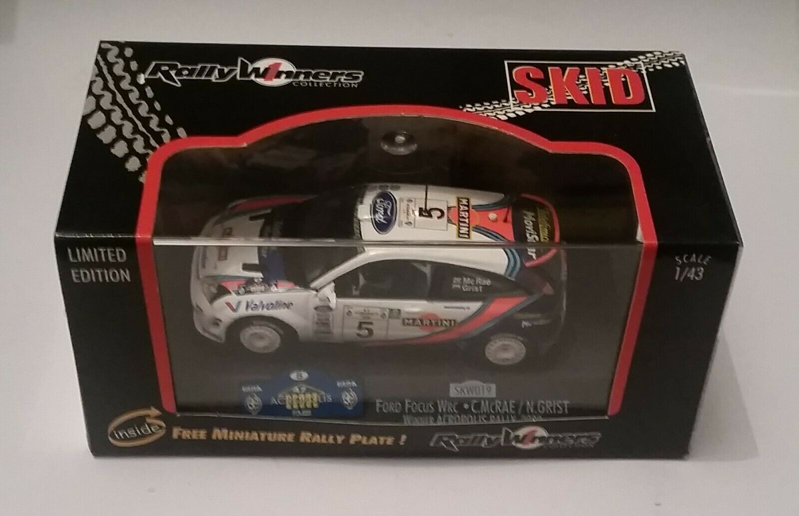 Vitesse Skid SKW019 1 43 Ford Ford Ford Focus WRC McRae Winner Acropolis Rally 2000 MiB d8e45d