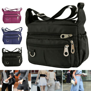 Women-Ladies-Multi-Pocket-Messenger-Handbag-Cross-Body-Bags-Fashion-Shoulder-Bag