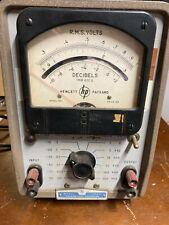 Vintage Hp 400l Vacuum Tube Volt Meter Vtvm Hewlett Packard 1051 112 85