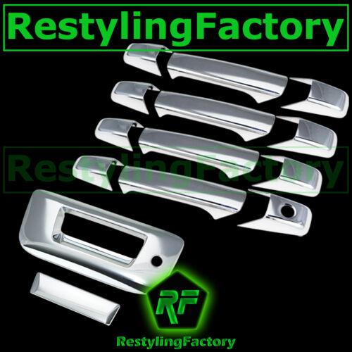 07-13 Chevy Silverado Chrome 4 Door Handle+Tailgate W//Keyhole no Camera Cover