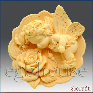 Lailah egbhouse,2D Silicone Soap//plaster//polymer clay Mold-Angel of Conception