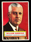 1956 TOPPS #1 WILLIAM HARRIDGE A.L. PRESIDENT GRAY BACK HALL OF FAMER