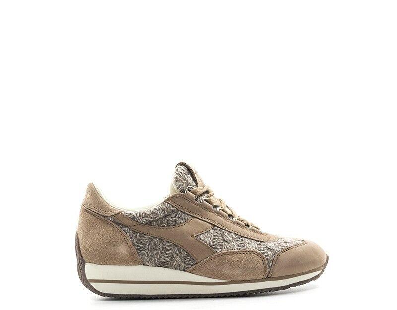 shoes DIADORA HERITAGE women SNEAKERS TRENDY  brown Scamosciato,Tessuto 17138