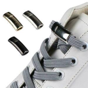 Elastic-Magnetic-Locking-No-Tie-Shoe-Laces-Kids-Unisex-Laces-Sneakers-NICE-L0W3