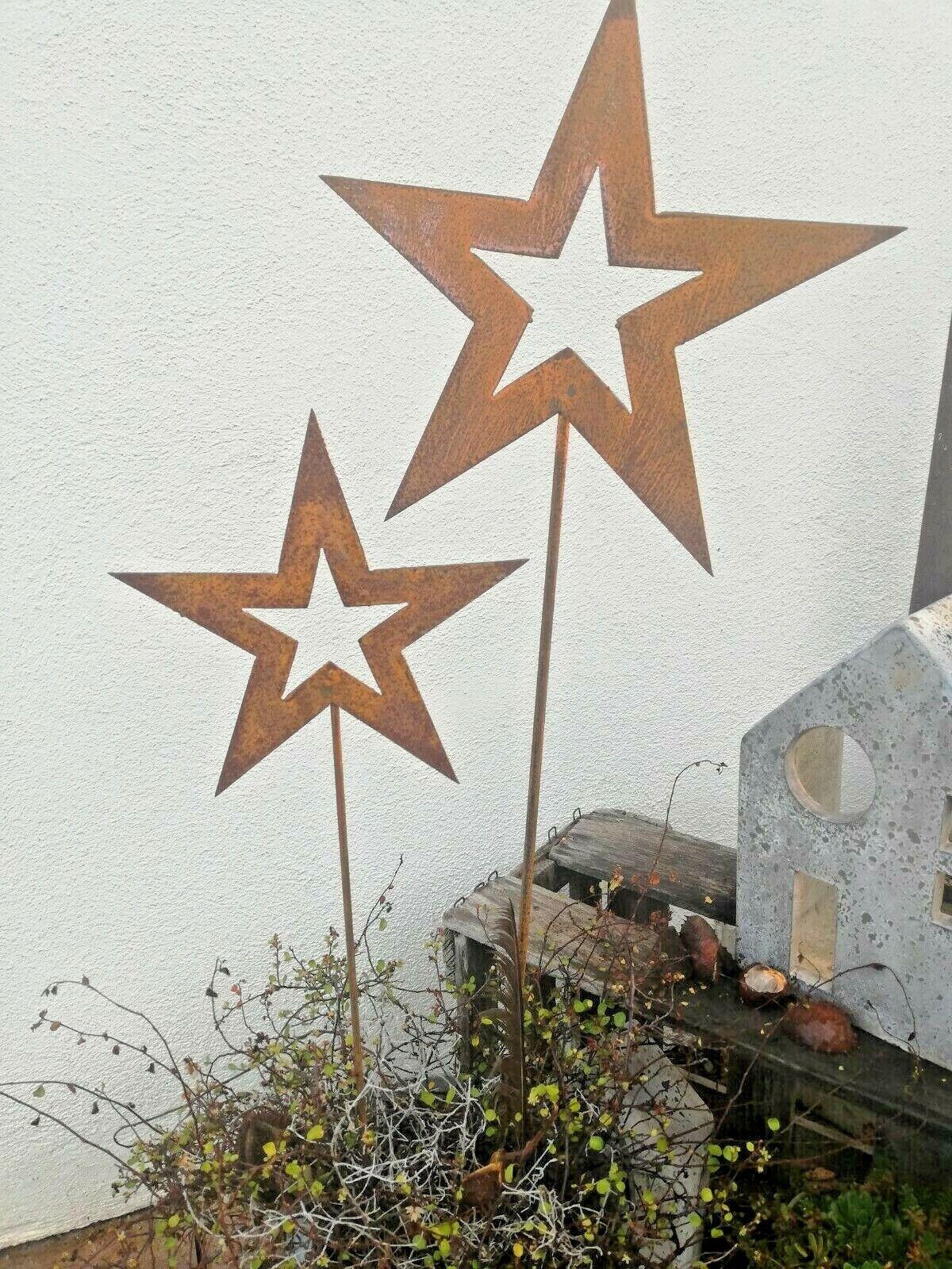 Set estrellas por meter, 2 conector óxido óptica landhaus gartendeko beetstecker