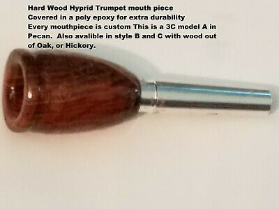 Custom 3D Double cup Jazz Lead Trumpet Hybrid Wood mouthpiece