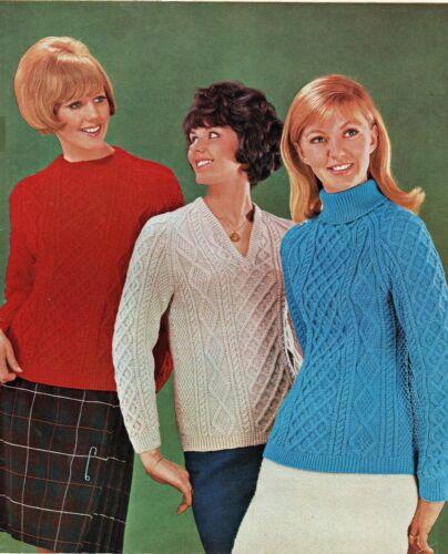 Femmes Polo rond ou col V Pulls avec manches raglan Knitting Pattern in DK