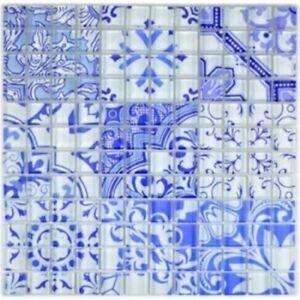 Retro-Vintage-mosaico-piastrella-Blu-Vetro-piastrelle-a-mosaico-MURO-SPECCHIO-88-RETRO-33-b