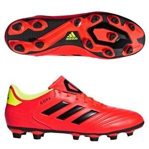 half off 5aee5 e28fb Image is loading Adidas-Copa-18-4-FxG-Soccer-Cleats-Solar-