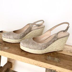 Adaptable Bruno Premi En Cuir Talons Compenses Sandales Plateforme Chaussures Escarpins Beige 38 Neuf-afficher Le Titre D'origine éLéGant Et Gracieux