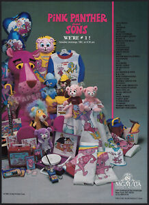 PINK-PANTHER-and-SONS-Original-1985-Trade-Print-AD-Toy-license-promo-poster
