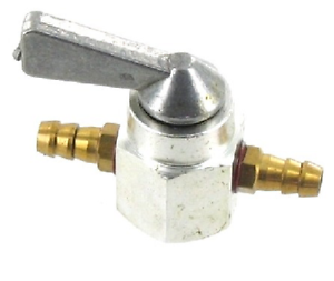 UNIVERSAL FUEL TAP 6MM GREY VALVE PIPE SHUT ON//OFF INLINE MOPED MOWER MOTORCYCLE