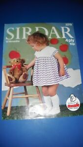 Sirdar-Child-039-s-Dress-Knitting-Pattern-3219