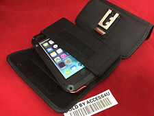 NYLON BELT CLIP BLACK POUCH FOR IPHONE 5 5S 5C Aluminum Gorilla Glass Metal Case