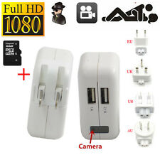 16GB 1080P Spy Hidden Camera AC power Adapter Motion Detection Plug Record Cam
