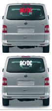 AC DC / ACDC / AC / DC - Aufkleber, Sticker - 40 cm, Farbe rot oder weiss