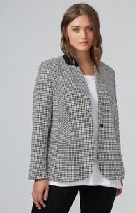 Colletto in ecopelle New Houndstooth The Blazer Jacket 14 Bryant Lane wqnzOq180