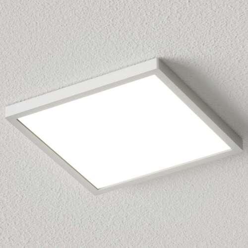 LED Deckenleuchte Solvie Eckig Silber Lampenwelt 30 cm Deckenlampe Küche Flur