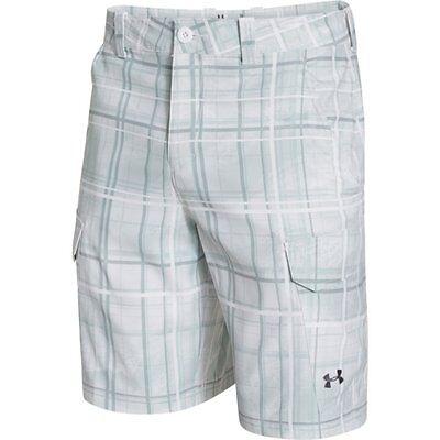 Under Armour Fish Hunter Cargo Shorts (White) 1244207-102