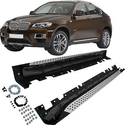 Bmw X6 E71 E72 Bj. 08-14 Set Pedane Gonne Alluminio Anbaumateria Incl.- Per Vincere Una Grande Ammirazione