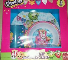 New shopkins meal time plate food diner set