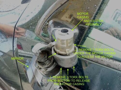 Mini Cooper R50 R53 Rétroviseur Extérieur Pliable Moteur et Jeu Rotors 2001-2008