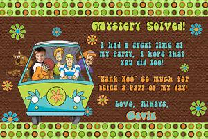 Scooby Doo Birthday Personalized Thank You Card Ebay