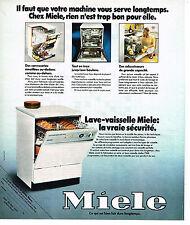 PUBLICITE  1975   MIELE  lave vaisselle