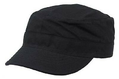 Us Ranger Style Bdu Vintage Army Military Mütze Cap Schwarz Black L
