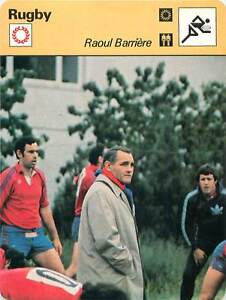 FICHE-CARD-Raoul-Barriere-Entraineur-France-Rugby-Union-RUGBY-a-XV-1970s