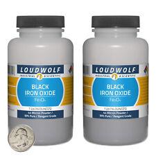 Iron Oxide Black 2 Lbs 2 Bottles 99 Pure Reagent Grade 44 Micron Powder