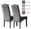 Dining Chairs in Velvet Knocker Back - High Quality Velvet, Kitchen, Dining New Dark Grey,Light Grey,Cream,Mink,Taupe Faux Leather,Dark Grey Faux Leather