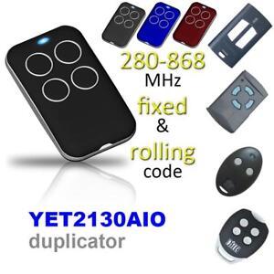 315/418/433/868MHZ Automatique Clone Télécommande Porte De Garage Télécommande