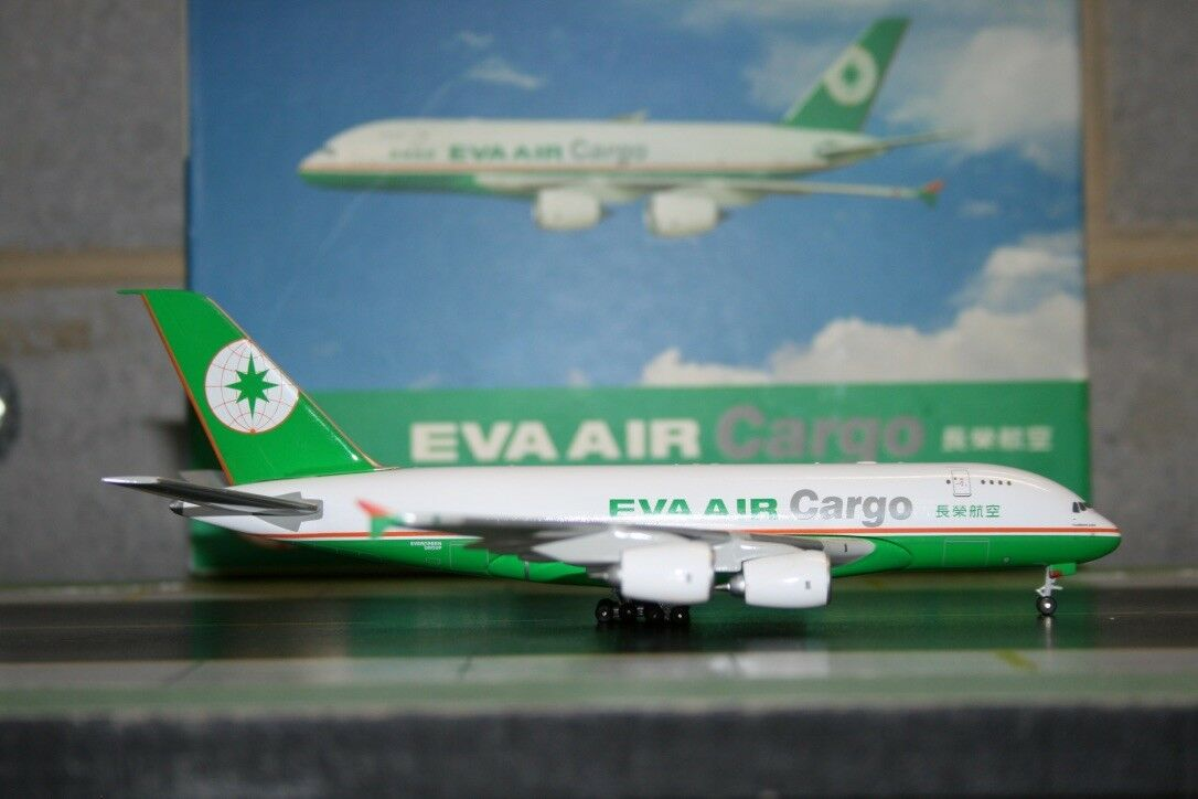 Magic Models 1 400 EVA Air Cargo Airbus A380-800F Die-Cast Model Air-Plane