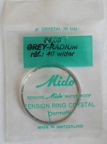 OVP Ref Uhrenglas Mido 34,0 mm 40 wider grey radium