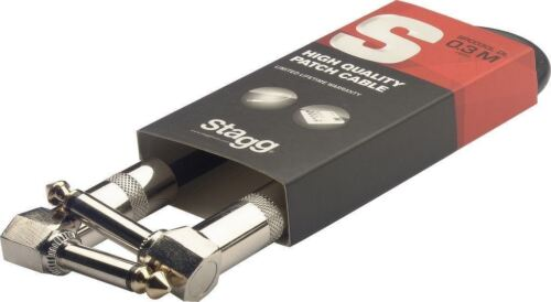 30CM Stagg Right Angled Jack Right Angled Jack Lead Patch Lead