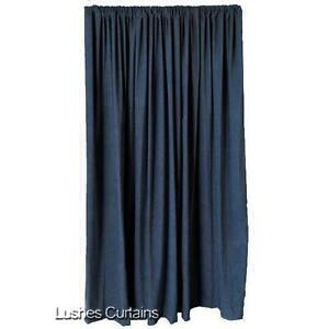 Blue 14 Tall Window Velvet Curtain Panel Extra Long Sound