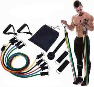11in1 set Fitnessband Expander Widerstandsbänder Yoga Gymnastikbänder Home Büro