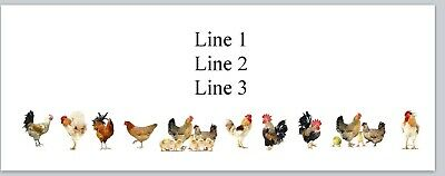 Jx 338 Personalized Address Labels Farm Chicken and Eggs Buy 3 get 1 free