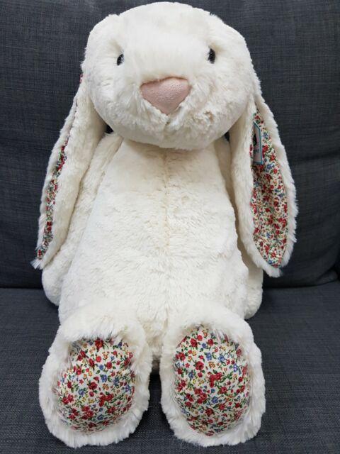 Kids Soft Toy - Jellycat Blossom Cream Bunny Huge 51CM- Kids Birthday Present!